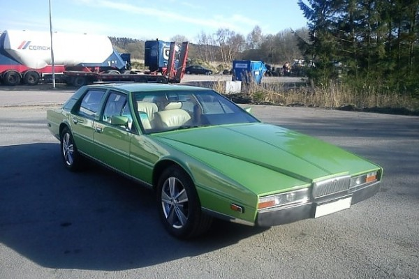 Aston Martin Lagonda produced in only 645 copies. This copy had the same owner for about 26 years, and sold on the PS Collector Car Auction, 2015.